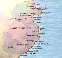 Costa Brava - Fuente: http://costasyplayas.com/wp-content/uploads/Mapa-de-la-Costa-Brava.jpg.